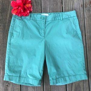 J Crew Bermuda Shorts Green Khaki Chino 6